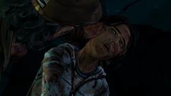 Sarita as a zombie