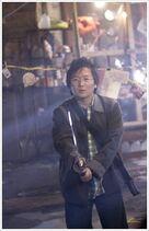 Hiro with katana