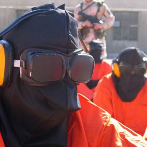 Guantanamo Bay prisoner's hood