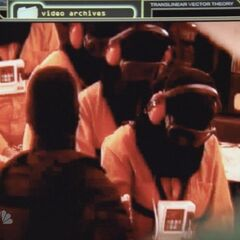 The footage shown to Peter and Matt which shows a hooded Matt, female fugitive, a hooded fugitive and a hooded Peter and Mohinder