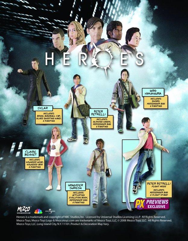 HEROES Series 1 Fire Rescue Claire Bennet Exclusive Action Figure Mezco