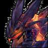 Лавовый дракон-иконка
