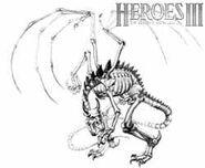 Костяной дракон (HoMM III)-концепт-арт-1