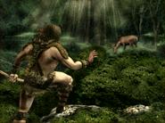 Вэржак на охоте