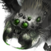 Чёрный паук-иконка-H7