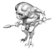 Троглодит (HoMM III)-ранний концепт-арт