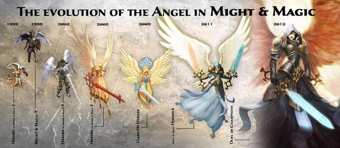 Ангелы - эволюция