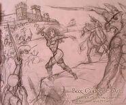 Концепт-арт атаки на замок (HoMM III)