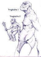 Первые концепт-арты троглодита (HoMM III)
