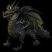 Чёрный дракон-H4-арт