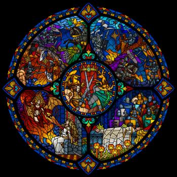 Десятилетняя война в одной мозаике