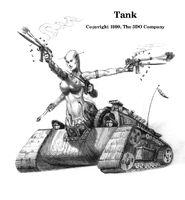 Танк - зарисовка