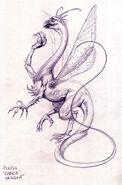 Сказочный дракон (концепт-арт)