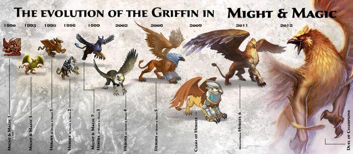 Грифоны - эволюция