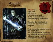 Арантир на карточке