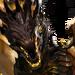 Чёрный дракон-иконка-H7