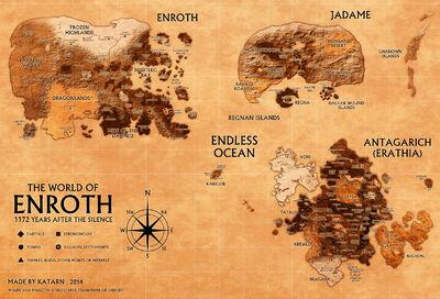 Энрот - карта планеты
