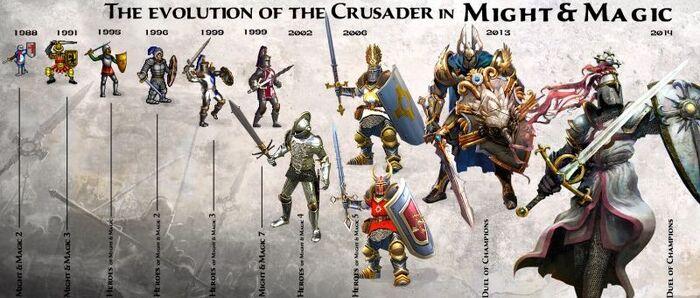 Крестоносцы - эволюция