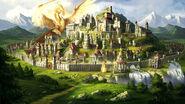 Герои меча и магии 7 - город фракции альянс света