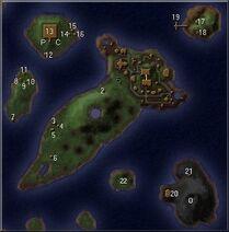 Dagger Wound Islands map