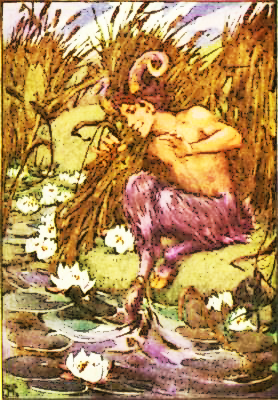 Satyr by a river