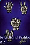 Emojis -Skeletal Hand Symbol - 2
