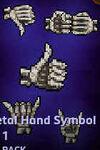 Emojis -Skeletal Hand Symbol - 1