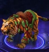 Lunar Tiger Mount - Brown