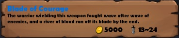 Blade of courage stats
