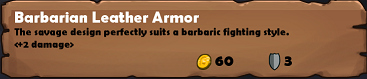 Barb leather armor common desc