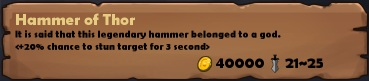 Hammer of thor stats