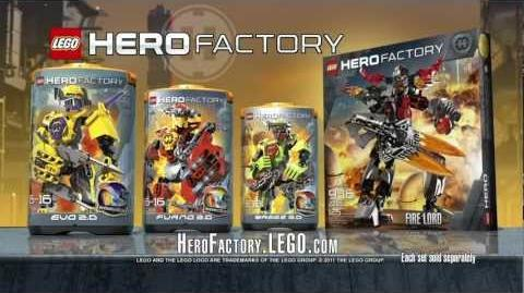 Hero Factory Evo vs. Firelord Advert HD