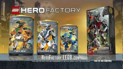 Hero Factory Nex vs. Drilldozer Advert HD