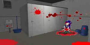 Leaki's Corpse in School Bathroom