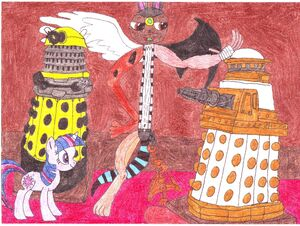 Shadow Joe showing the Daleks0001