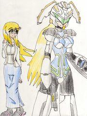 Armored Police Meldion and Aoi Yuki
