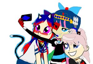 Spyro, Junko, And Leaki Selfie