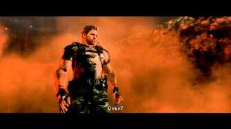 HD Resident Evil 5 Wesker Midnight with his M500 in The Final Curtain Cutscene