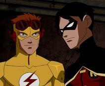 Robin e Kid Flash se encontram