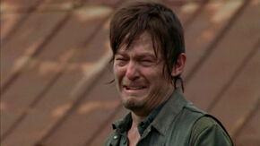 Daryl Dixon crying over his Brother