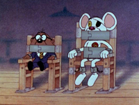 Danger Mouse and Penfold held prisoner by Count Duckula