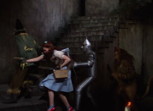 Dorothy and friends escape