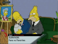Homer and Abe mourning over Mona