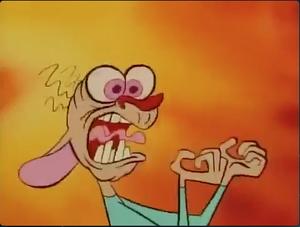 STIMPY!!! YOU ATE EGG YOLKEO!!!!
