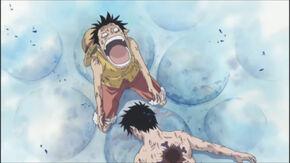 Luffy cries
