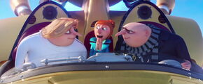 Gru apologizes his brother