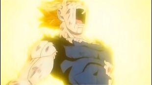 Vegeta sacrificing himself for his family