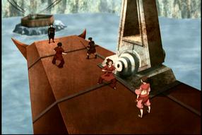 Battle atop the gondola