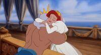 Ariel hug Triton