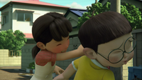 Shizuka slapping and hating Nobita